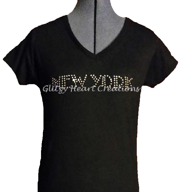 New York Design Rhinestone T-Shirt