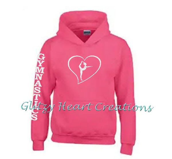 Gymnastics Hoodie with Ring Balance in Heart Design