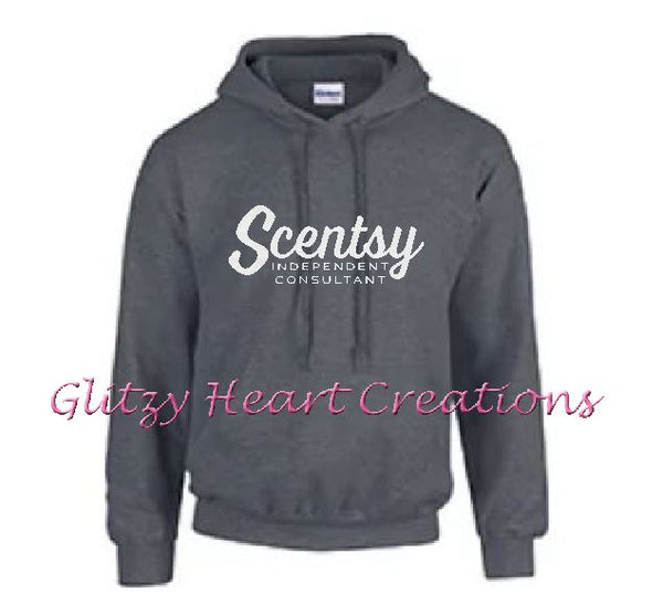 Authorized Scentsy Vendor - Scentsy Script Logo on a Pullover Hoodie