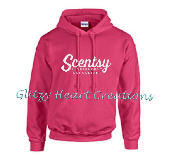Authorized Scentsy Vendor - Pullover Hoodie with Scentsy Script Logo - Add'l Colours
