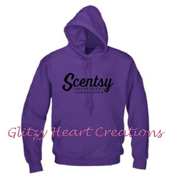 Pullover Hoodie with Scentsy Script logo - Purple Hoody