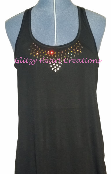 Small Diamond Design on Ladies Tank Top