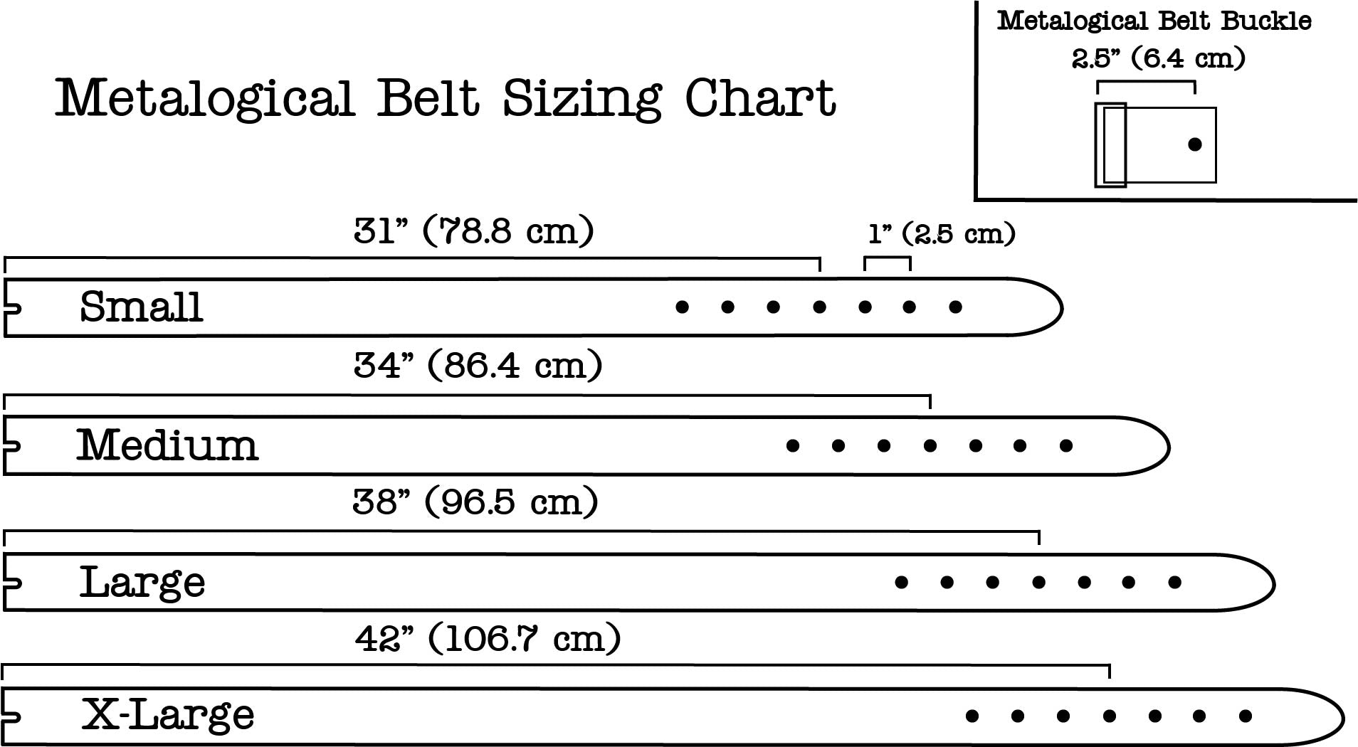 Metalogical Belt Sizing Chart