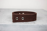 "Brown Waxed Cotton Belt - 1.5"" Snap Belt"
