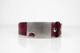 "Handmade Oxblood Leather 1.5"" Snap Belt"