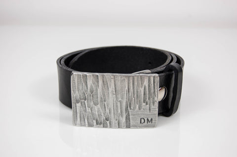 Personalized Stainless Steel Buckle with Hammered Texture
