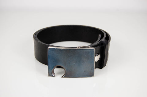Blue Stainless Steel Bottle Opener Belt Buckle