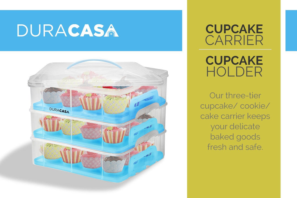 DuraCasa Cupcake Carrier Cupcake Holder Store up to 36 Cupcakes or