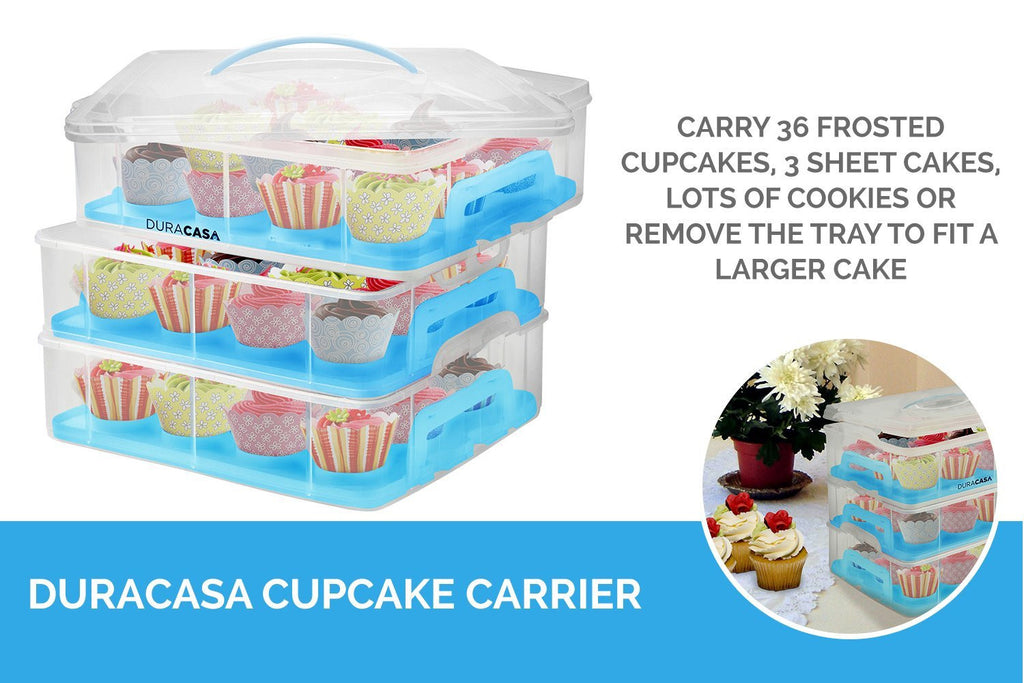 36 Cupcake Carrier Fascinating DuraCasa Cupcake Carrier Cupcake Holder Store Up To 60 Cupcakes Or