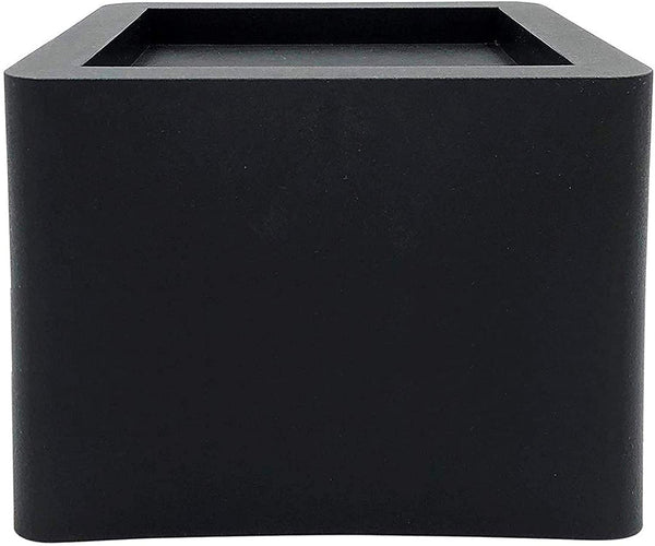 DuraCasa 5 Inch Bed Risers - Fits Huge 5.5 Inch Bed or Furniture Post, Creates an Additional 5 Inches of Height or Storage! Heavy-Duty Table, Chair, Desk or Sofa Riser (6, 5 Inch Black)