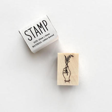 KNOOP Lily of The Valley Rubber Stamp