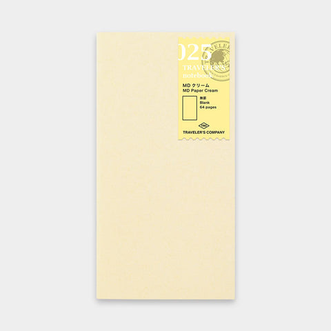 Traveler's Notebook 025 MD Cream Paper Refill