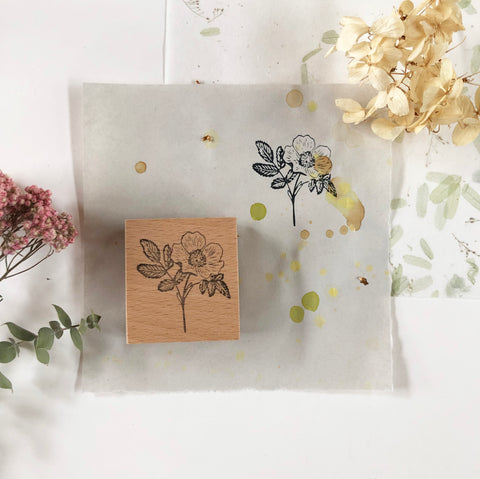 SJ Original Botanical Rubber Stamp - Rose