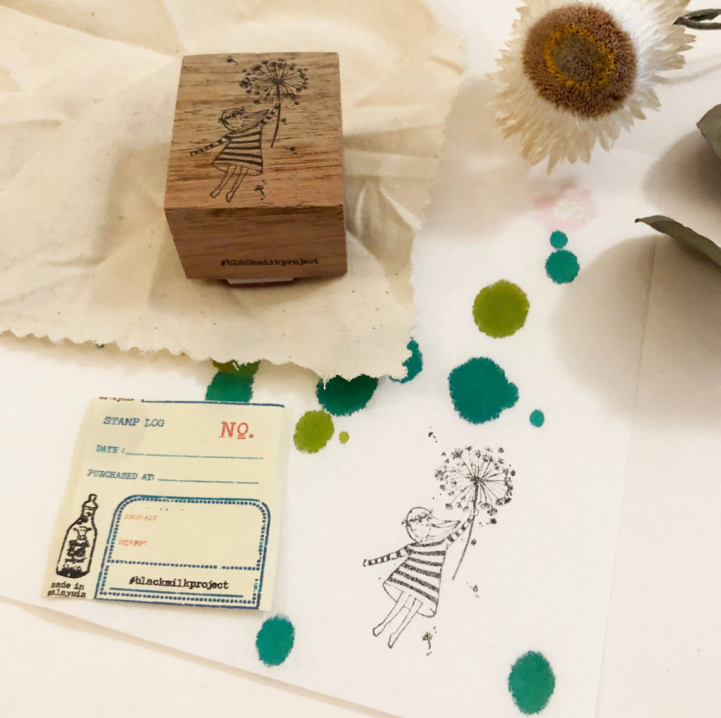 Black Milk Project Original Rubber Stamp - Dandelion