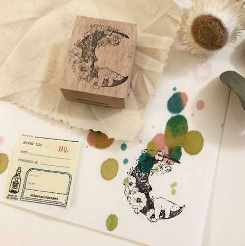 Black Milk Project Original Rubber Stamp - Moon Bear