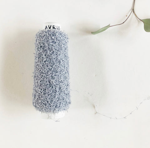 AVRIL Minicone Yarn - Washi Mall (Silver Grey)