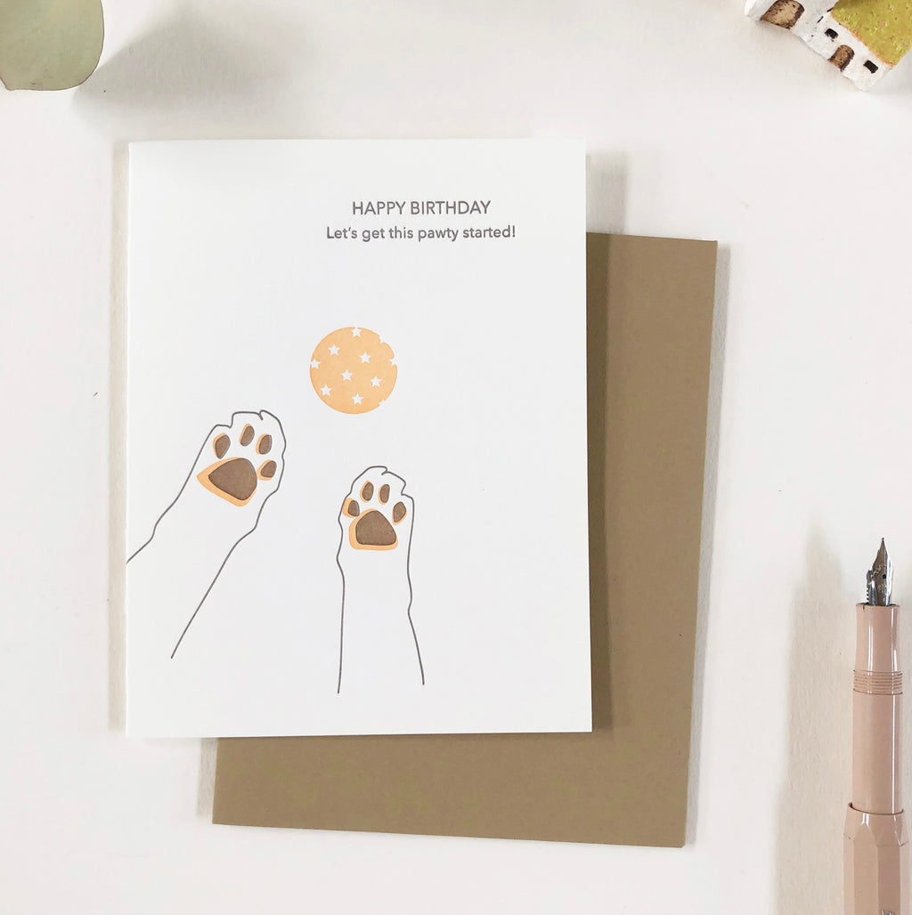 Lark Press Birthday Card - Let's get this pawty started!