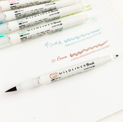 ZEBRA Mildliner Double-sided Highlighter Brush Pen