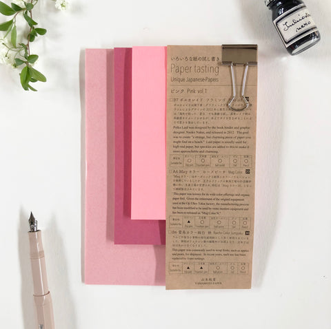 YAMAMOTO Unique Japanese Paper Testing Pack - Pink