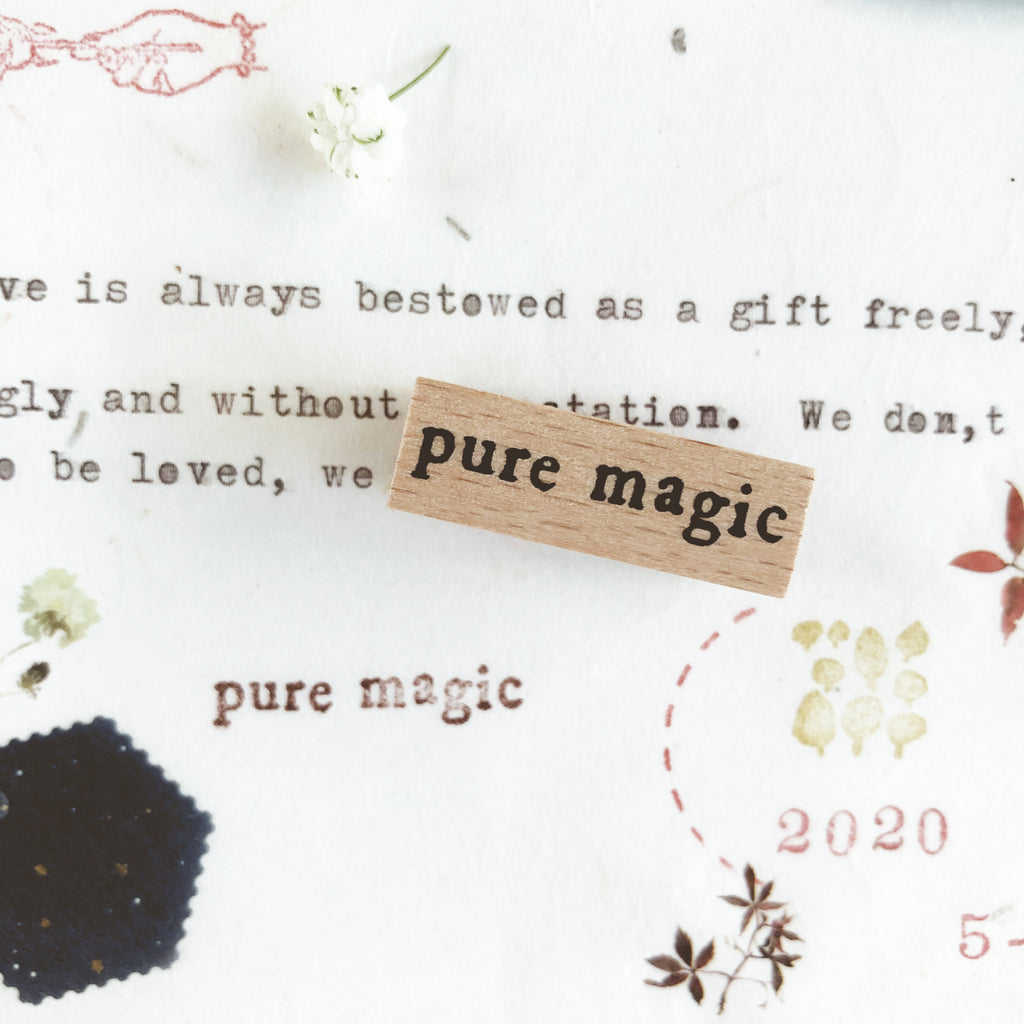 Yeon Charm Original Rubber Stamp - Pure Magic & Love