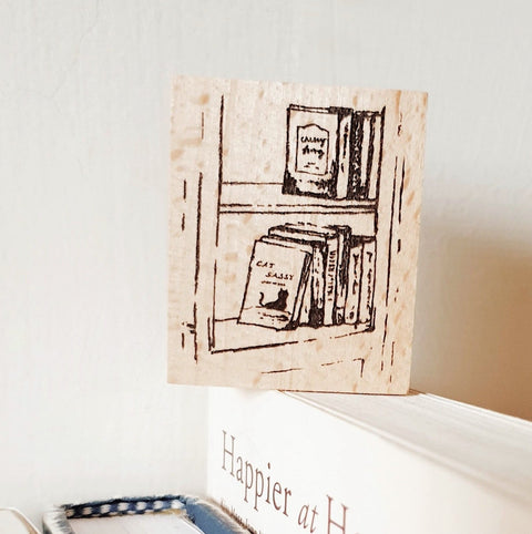 Yeon Charm Original Rubber Stamp - Book Shelf