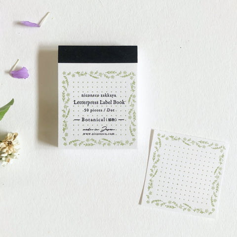 niconeco Letterpress Label Book - Botanical(植物)