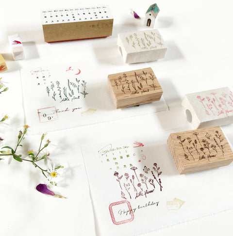 Kurukynki Wild Plants Rubber Stamp