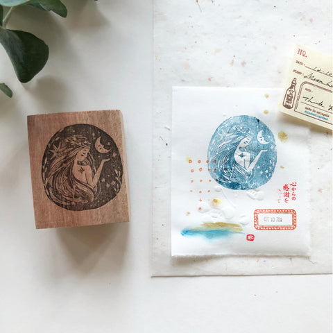 Black Milk Project Original Rubber Stamp - Moon Lady