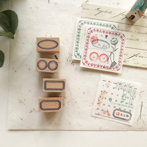 Kurukynki Mini Frame Rubber Stamp Set(XS)