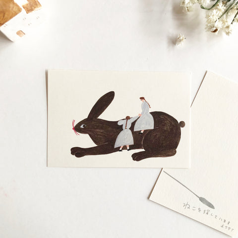 Necktie Original  Postcard - The Giant Bunny