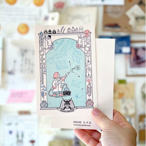 Kyupodo Letterpress Postcard - The Wonder Pen Lab
