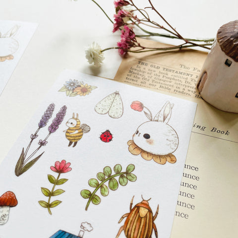 Jb0xtchi Garden Friends Washi Sticker Sheet