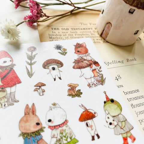 Jb0xtchi Woodland Creatures Washi Sticker Sheet