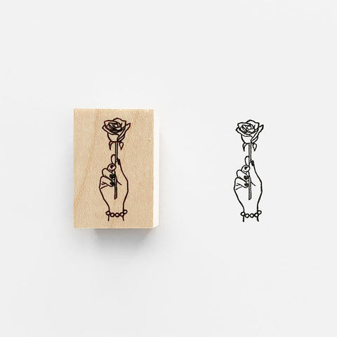 KNOOP Rose Rubber Stamp