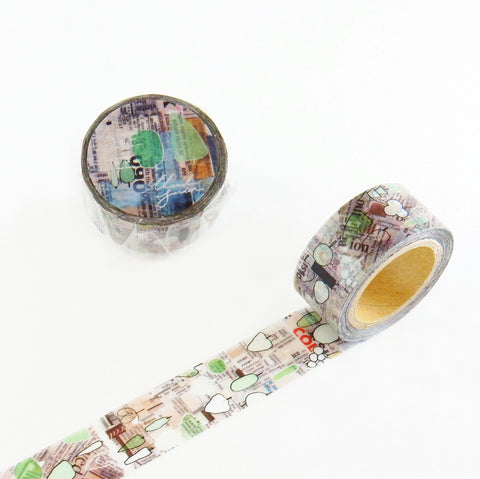Chamil Garden Washi Tape - Green