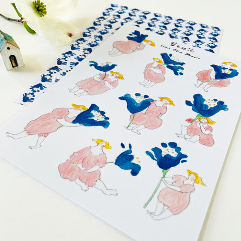 Dodolulu Original Washi Sticker - Some Blue Flower