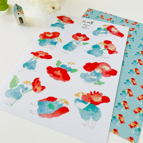 Dodolulu Original Washi Sticker - Flowers & Leaves