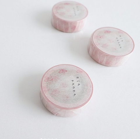 YOHAKU Original Washi Tape - Sakura