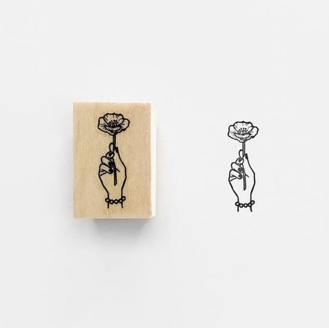 KNOOP Poppy Rubber Stamp