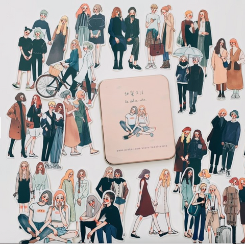 La Dolce Vita Tin Sticker - You & I (25 Pieces)