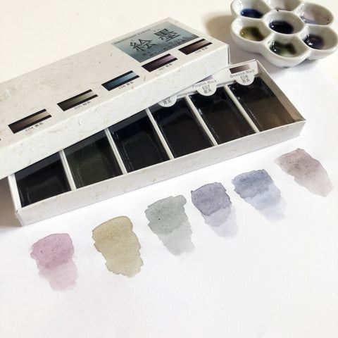 BOKUNDO Ink-based Watercolor Set (6 Colors)-niconeco zakkaya