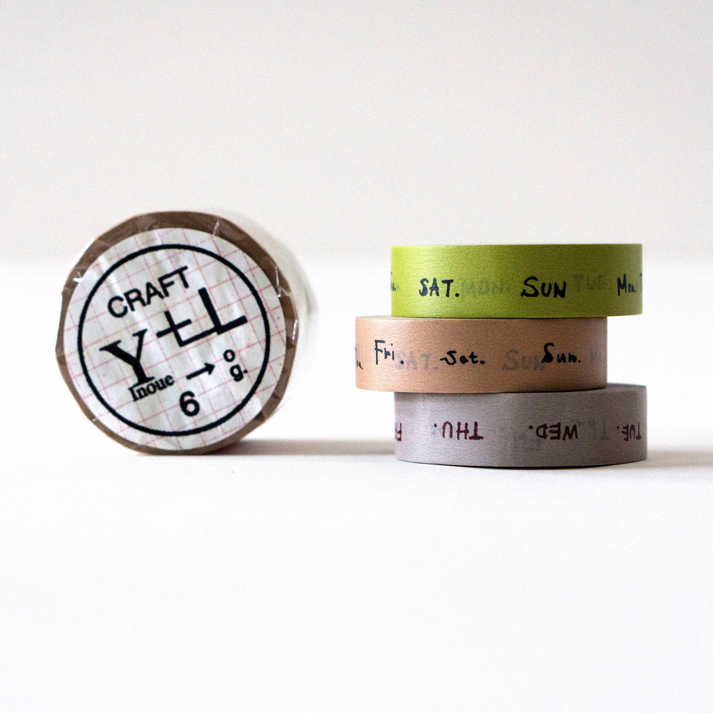 Classiky Days of Week Washi Tape Set-niconeco zakkaya