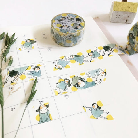 Dodolulu Original Washi Tape - Fly Me To The Moon-niconeco zakkaya