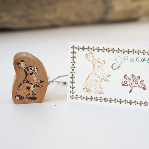 Forest Animal Rubber Stamp-niconeco zakkaya