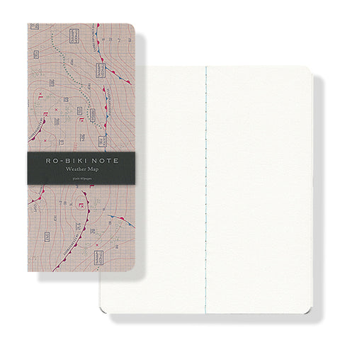 RO-BIKI Wax Cover Notebook - Weather Map