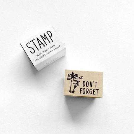 KNOOP Don't Forget Rubber Stamp-niconeco zakkaya