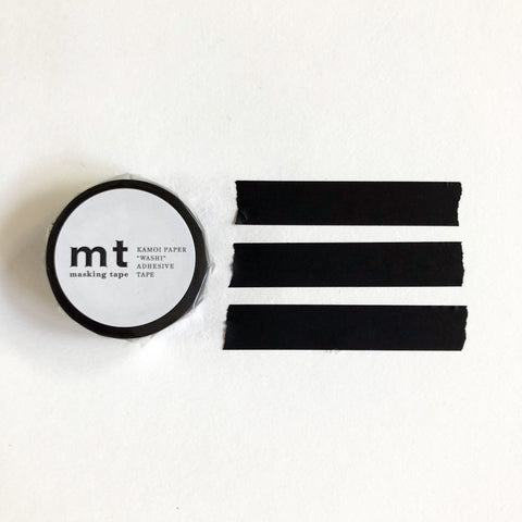 mt Basic Tone Washi Tape - Charcoal-niconeco zakkaya