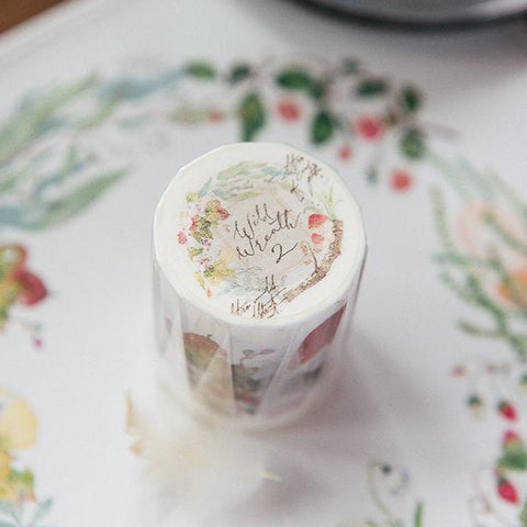 OURS Original Wide Washi Tape - Wild Wreath 2-niconeco zakkaya