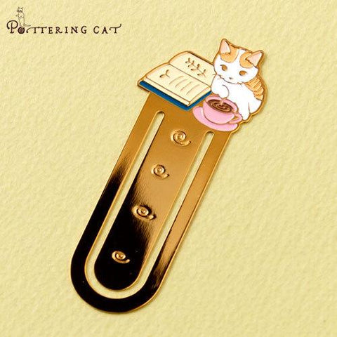 Pottering Cat Book Mark Collection - Hot cocoa-niconeco zakkaya