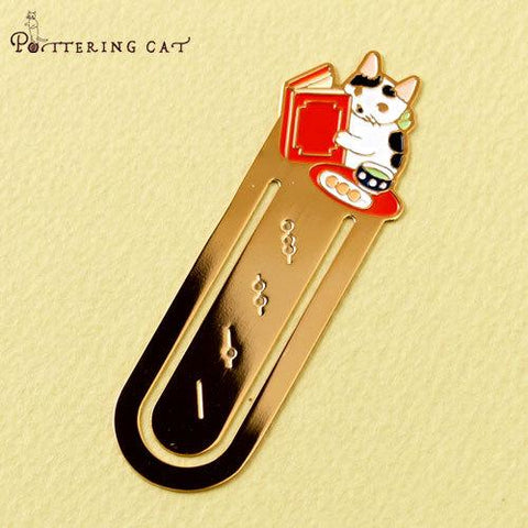 Pottering Cat Book Mark Collection - Japanese sweets time-niconeco zakkaya